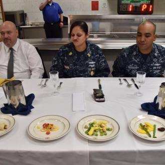 Judge on the right was hungry for some ceviche!