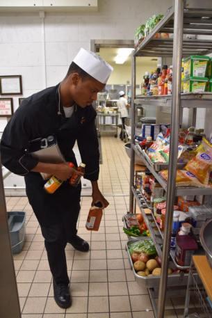 Grabbing ingredients for my mango vinaigrette.
