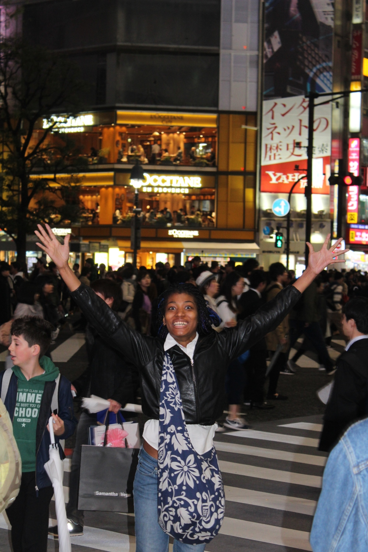 celebrate shibuya crossing