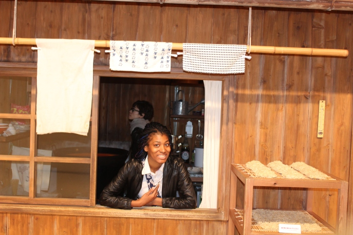 mariah in ramen window