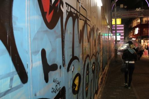 Takeshita dori shopping street grafitti