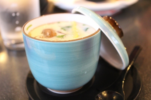 chawanmushi seafood custard in ceramic