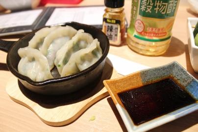 Gyoza with sauce