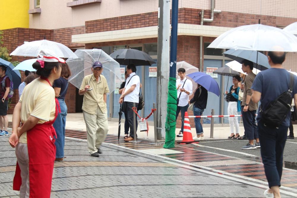 tsunami line outside.JPG