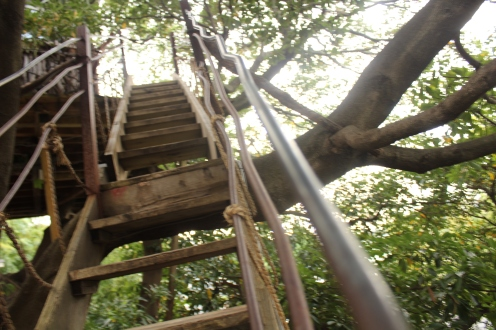 Nanjya Monjya Treehouse Cafe stairs