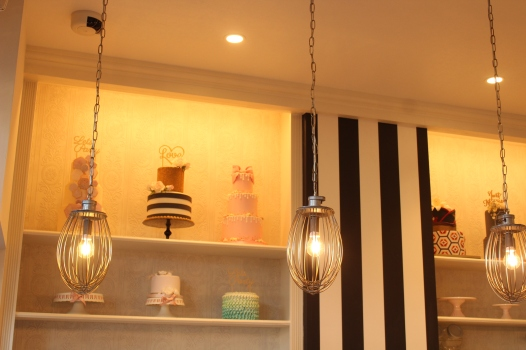 Lisa's Cake Market whip pendant light